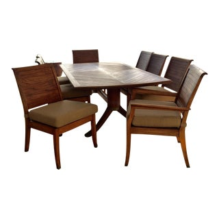 Gloster Transitional Teakwood Dining Set - Set of 9
