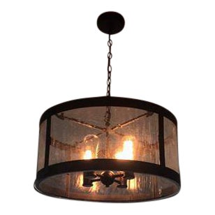 Glass & Bronze Finish Prairie Chandelier