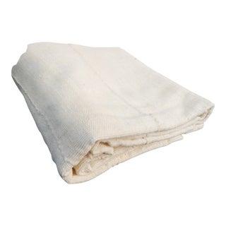 African Plain White Mud Cloth Textile Mali