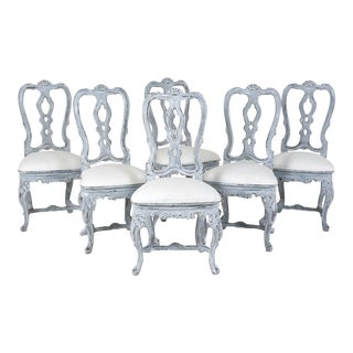 Painted Set of Six Italian Venetian-style Dining Chairs
