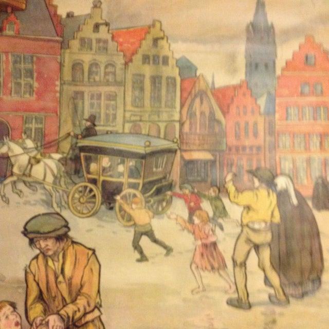 Vintage Belgian History School Chart Art - Image 10 of 10