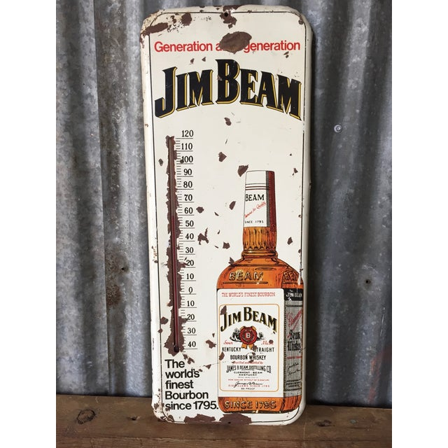Image of Vintage Original Jim Beam Advertising Thermometer