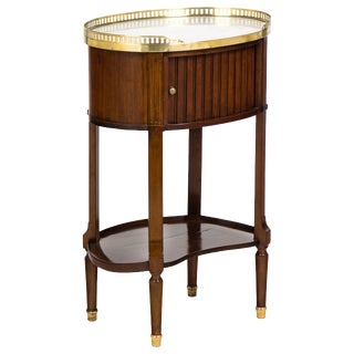 Louis XVI Marble-Top Mahogany Side Table