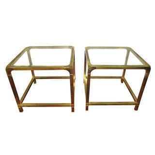 Mastercraft Brass Side Tables - A Pair
