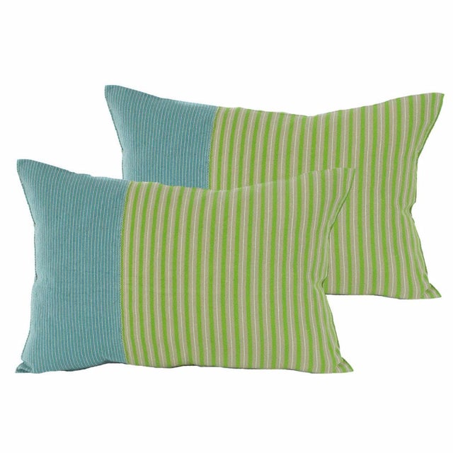 Image of Highlands Striped Pillow Covers - A Pair