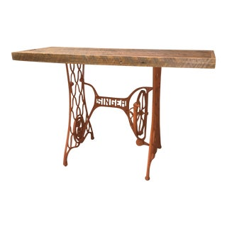 Singer Sewing Machine Console Table