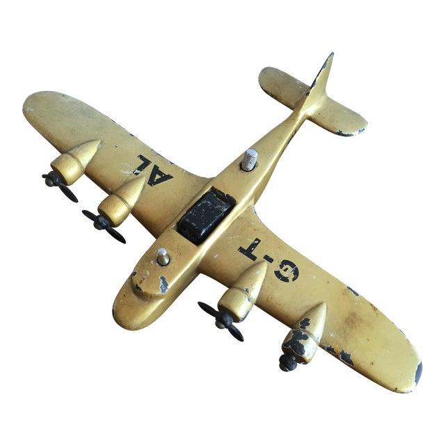 Art Deco Cast Iron Airplane Lighter - Image 1 of 7