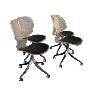 Lucite Swivel Chairs