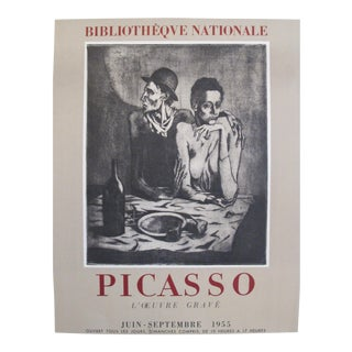 1955 Vintage French Picasso Exhibition Poster