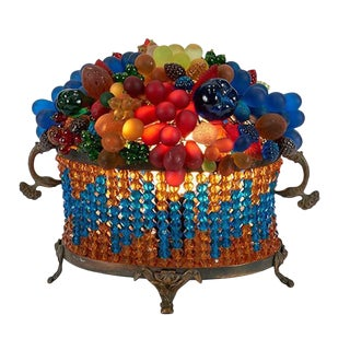 Czech Fruit Glass Table Lamp