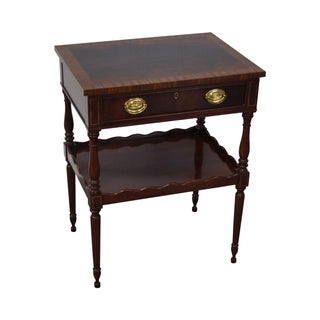 Hickory Chair Flame Mahogany Banded Top Nightstand