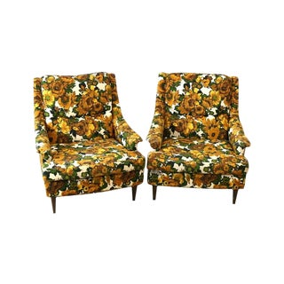 1950s Selig Chairs, Upholstered Seats - A Pair