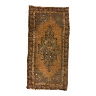 Vintage Handwoven Anatolian Carpet - 1′7″ × 3′
