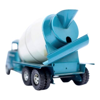 Metallic Blue Cement Mixer Photograph
