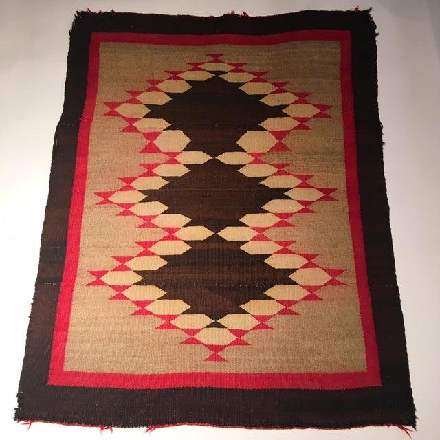 Image of Antique Navajo Diamond Pattern Rug - 2′11″ × 3′7″