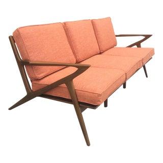 Mid-Century Terra-Cotta Z Sofa