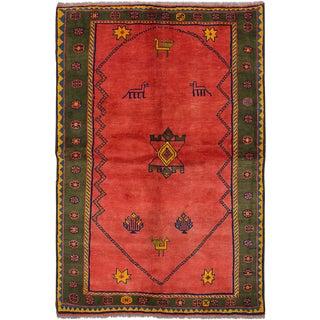 "Handmade Persian Gabbeh Rug - 5'1"" x 7'7"""