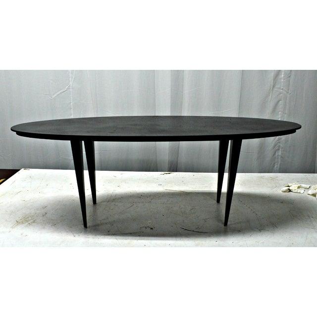 Mid-Century Elliptical Iron Coffee Table