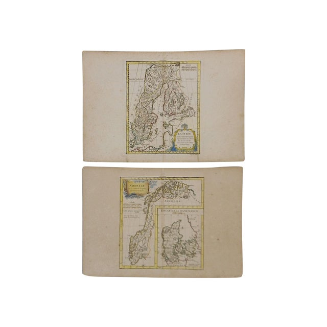 Image of 18th Maps Sweden Norway Engravings - Pair