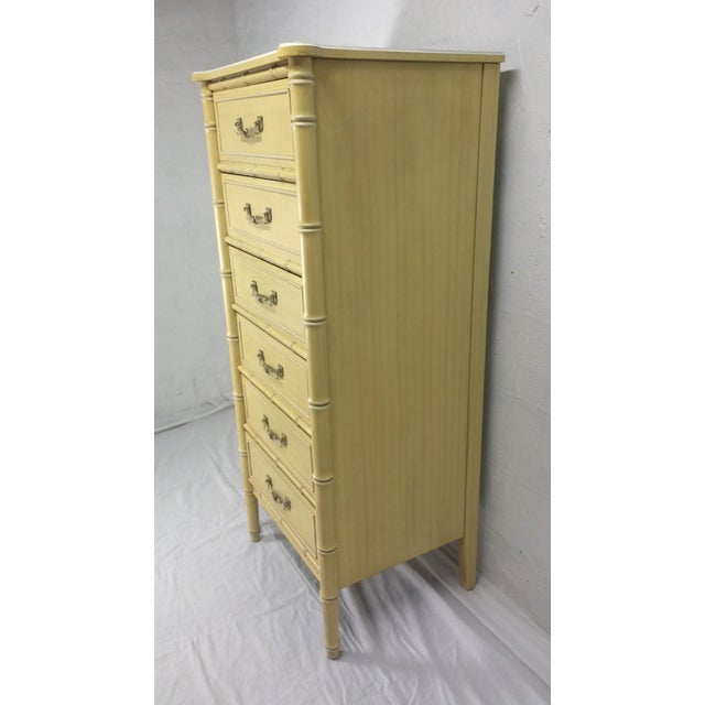Image of Vintage Henry Link Bali Hai Faux Bamboo Dresser