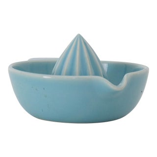 1950s Turquoise Ceramic Juicer