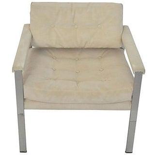 1970s Chrome Baughman-Style Armchair