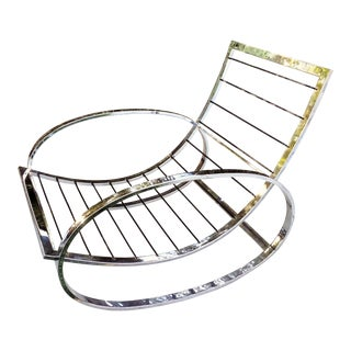 Renato Zevi Italy for Selig Chrome Rocking Chair