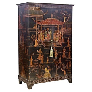 Vintage Asian Chinoiserie Cabinet