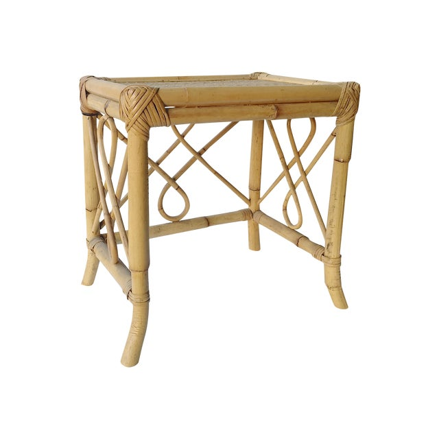 Image of Vintage Pier One Bent Bamboo Accent Table