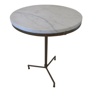 Vintage Paul McCobb Style Make Do Marble End Table