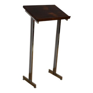 Rosewood and Chrome Music Stand