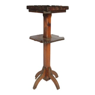 Antique Dry Goods Store Display Wood Stand
