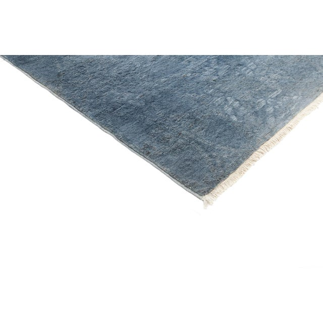 "Image of Blue Over-Dyed Hand-Knotted Rug - 5'2"" X 6'10"""