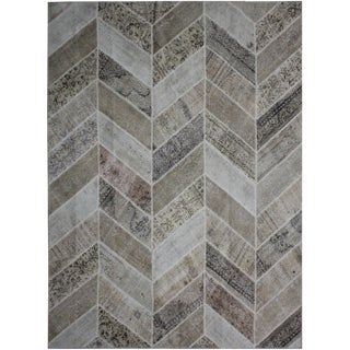 "Aara Rugs Inc. Hand Knotted Patchwork Rug - 9'11"" X 8'2"""