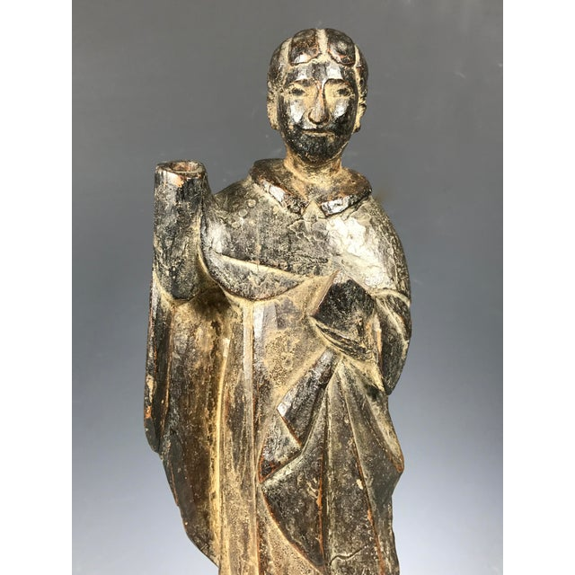 19th C. Carved San Vicente Ferrer Sculpture - Image 4 of 6