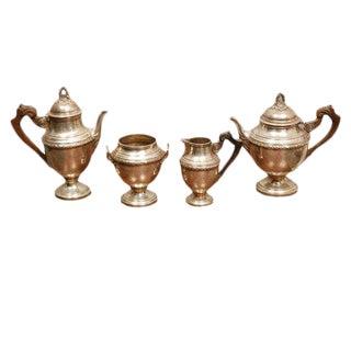 Antique Four Piece Silver Tea Set by L Posen