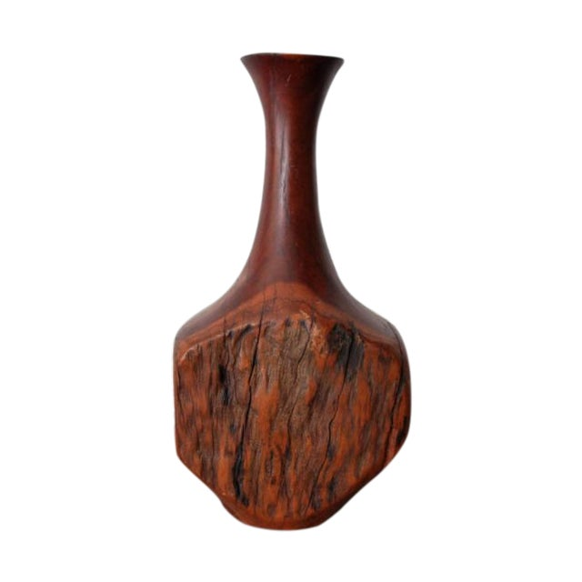 Vintage Wood Bud Vase - Image 1 of 5