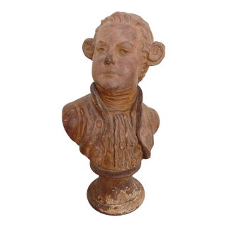Antique Terracotta Statue Bust