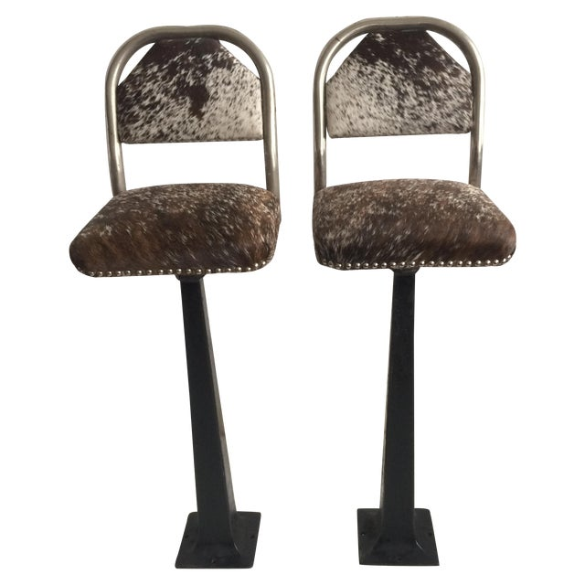 Antique 1930' S Stools - Pair - Image 1 of 8