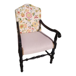 Vintage French Floral Accent Chair