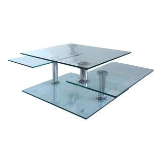 Metamorphic Glass & Chrome Coffee Table