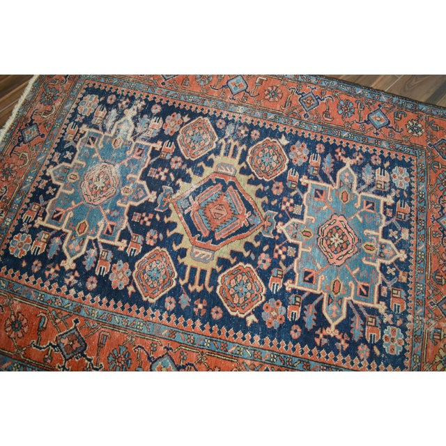 "Antique Persian Heriz Rug - 4'8"" X 6'2"" - Image 3 of 6"