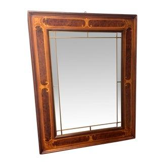 Antique Art Deco Inlaid Wood Mirror
