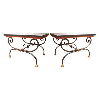 Vintage Morganton Furniture Barcelona Collection Side Tables - Pair