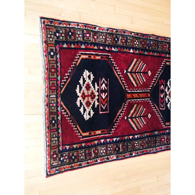 Antique Persian Wool Rug - 3′1″ × 12′2″ - Image 3 of 5