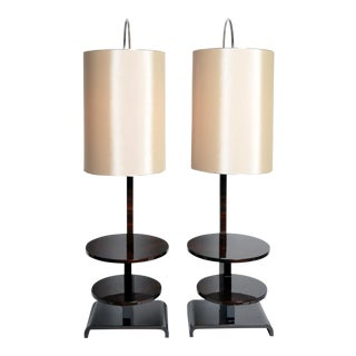 Pair of Hungarian Floor Lamps with Shelves