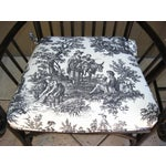 Image of Black French Country Style Bamboo Chairs - Pair