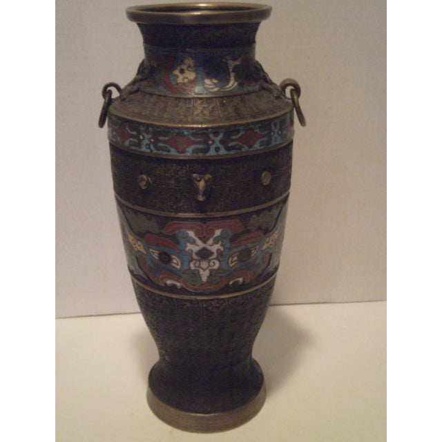 Large Antique Champleve Urn - Image 2 of 11