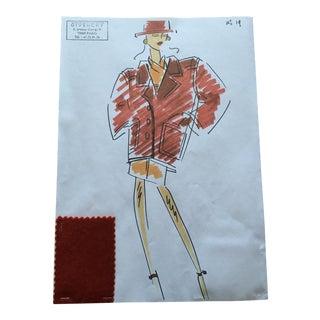 Givenchy Red Blazer Croquis Fashion Sketch