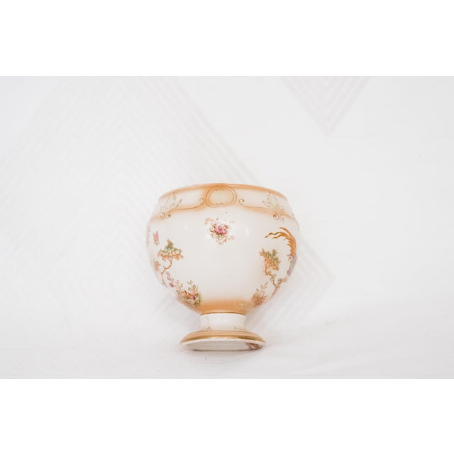 Image of Vintage Porcelain Vase with Pheasants